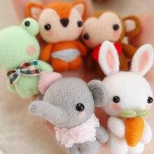 Little fox, little elephant frog, Rabbit Pendant wool needlepoint kit wool felt felt