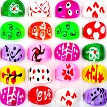10 шт./компл. дешевая цена оптовая продажа ювелирных изделий Красочные полимерные кольца для женщин красивая мода отправить случайный