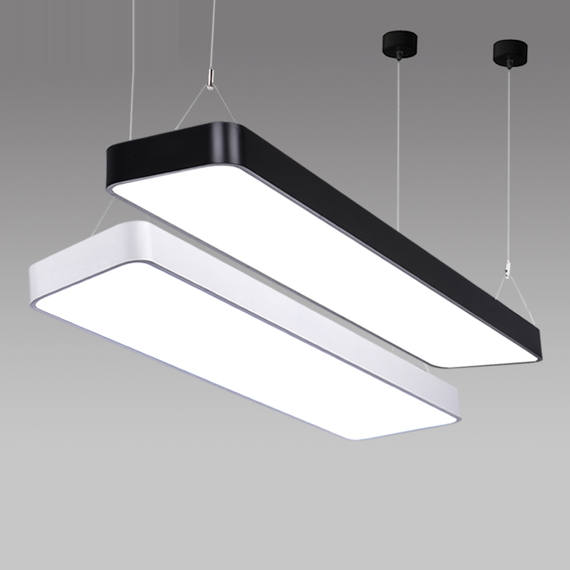 luxury study office modern led ceiling pendant lamp rectangle