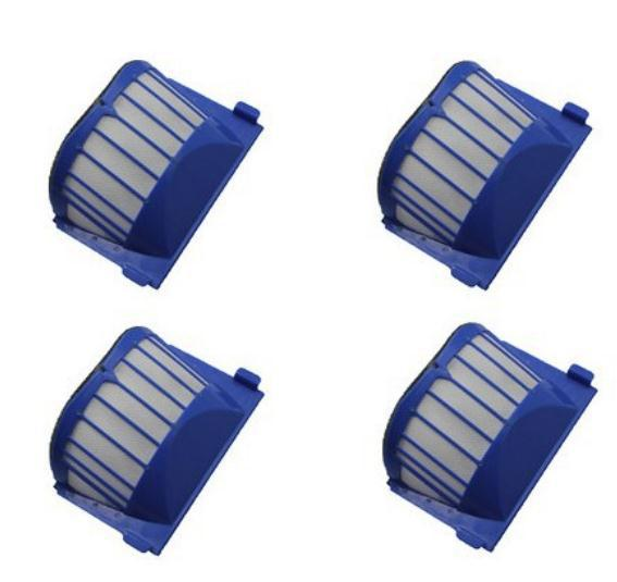4 Piece/lot Replacement AeroVac  Filter for iRobot Roomba 500 600 serives 536 550 551 552 564  620 630 650 660 Blue Filter цены онлайн