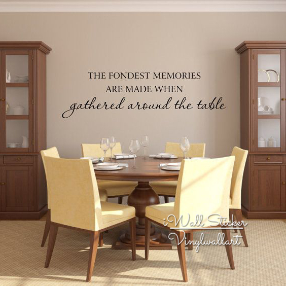 wall decals for dining room gather around the table quote wall sticker diy family 5613