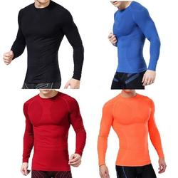 Hot new men compression under base layer tops tights long sleeve t shirts .jpg 250x250
