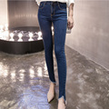Women's High Waist  Feet Jeans The New Spring and Autumn Fashion Korean Version Slim Was Thin Pencil Pants Casual Jeans