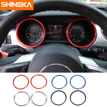SHINEKA Car Styling ABS Dashboard Decoration Cover Ring Trim Instrument Panel for Ford Mustang 2015+ Interior Accessories shineka car styling interior cover instrument panel trim dashboard trim for ford mustang 2015