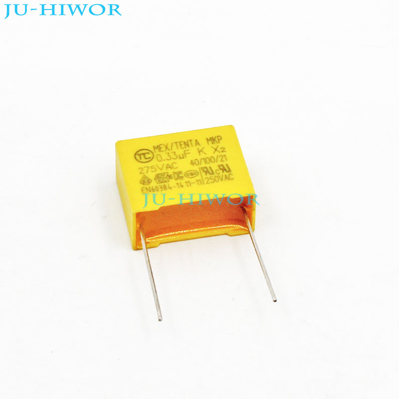20pcs Lot X2 Safety Capacitor 334k 0 33uf 330nf 275v 10 Pitch 15mm Polyester Film Capacitor Yellow Square Capacitance X2 Safety Capacitor Polyester Film Capacitorfilm Capacitor Aliexpress