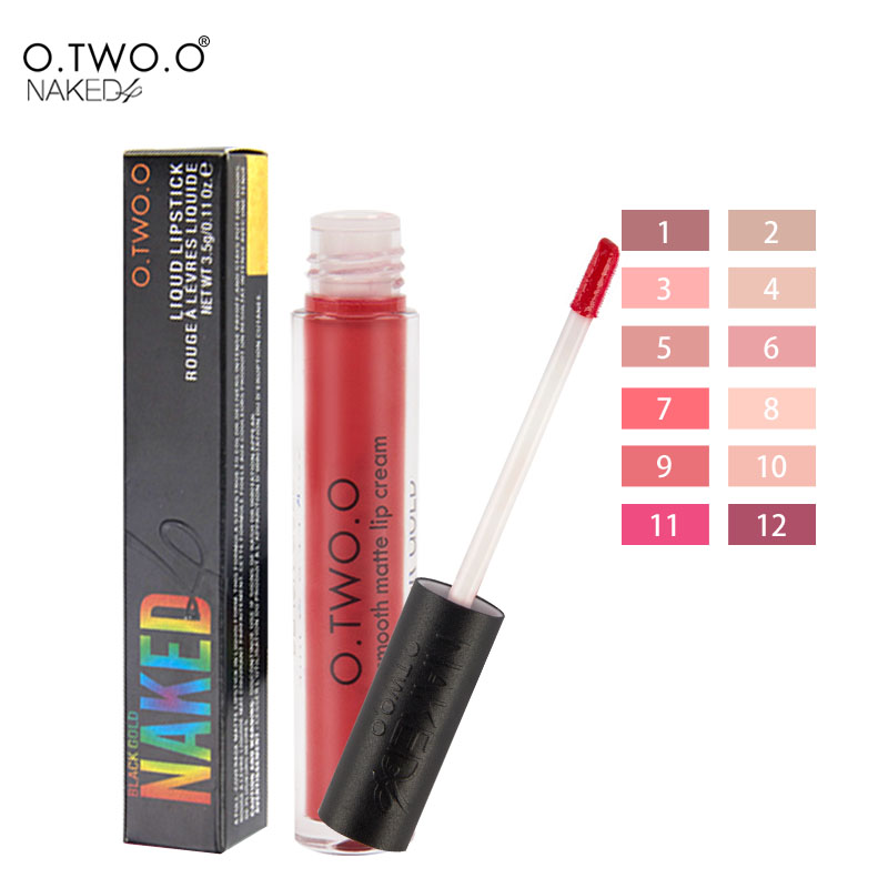 O TWO O Matte Lipgloss 24 Hours Long Lasting Waterproof Soft Texture Lip Gloss Matte Liquid