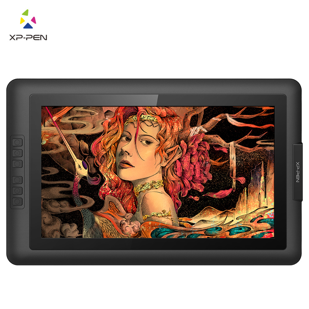 XP-Pen Artist15.6 IPS Display tablet Graphics Drawing Monitor USB cable with Battery-free Passive Stylus (8192 levels pressure)