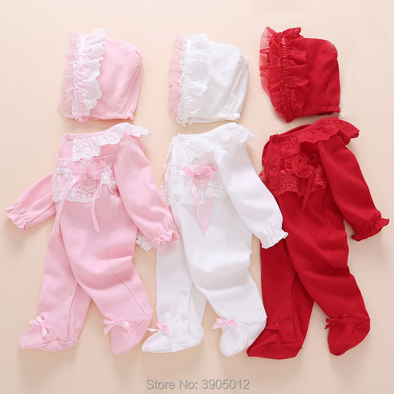 2018 baby girl clothes , soft cotton kids one pieces Jumpsuits Pajamas 0-24M infant girl boys clothes baby costumes