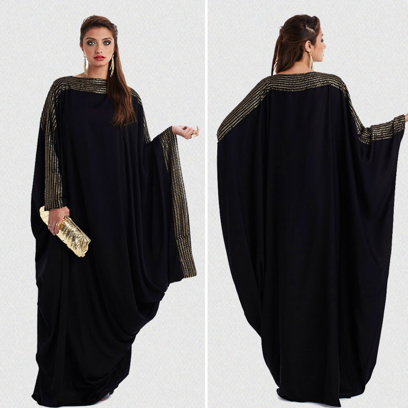 new arab elegant loose abaya kaftan islamic fashion muslim dress clothing design women black dubai abaya