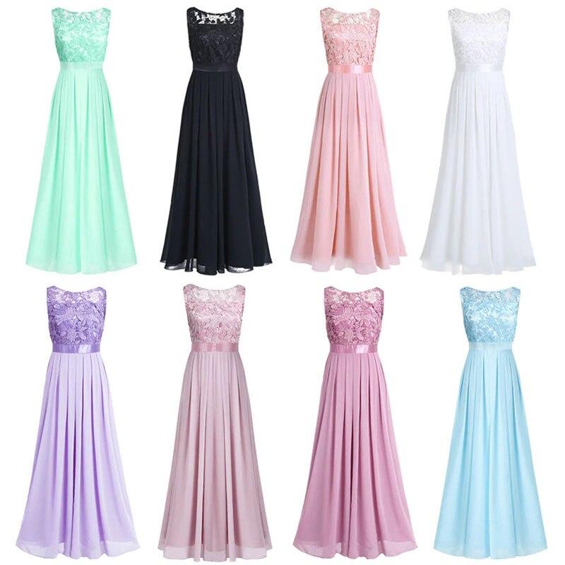 5c245a3935f Babyonline Custom Made Lace Top Long Chiffon Bridesmaid Dresses 2019  Wedding Guest Dresses robe demoiselle d honneur