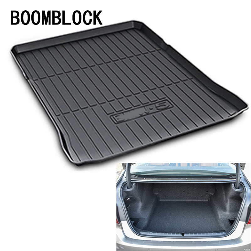 BOOMBLOCK For BMW G30 5 Series 2018 Waterproof Anti-slip Car Trunk Mat Tray Floor Carpet Pad Protector Auto Accessories boomblock for infiniti q50 q50l waterproof anti slip car trunk mat tray floor carpet pad protector auto accessories