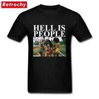 2017 أحدث تصميم الجحيم هو الشعب t-shirt مثير فتاة المحملة عظيم نوعية الرجال قصيرة الأكمام تي شيرت ملابس رخيصة الثمن