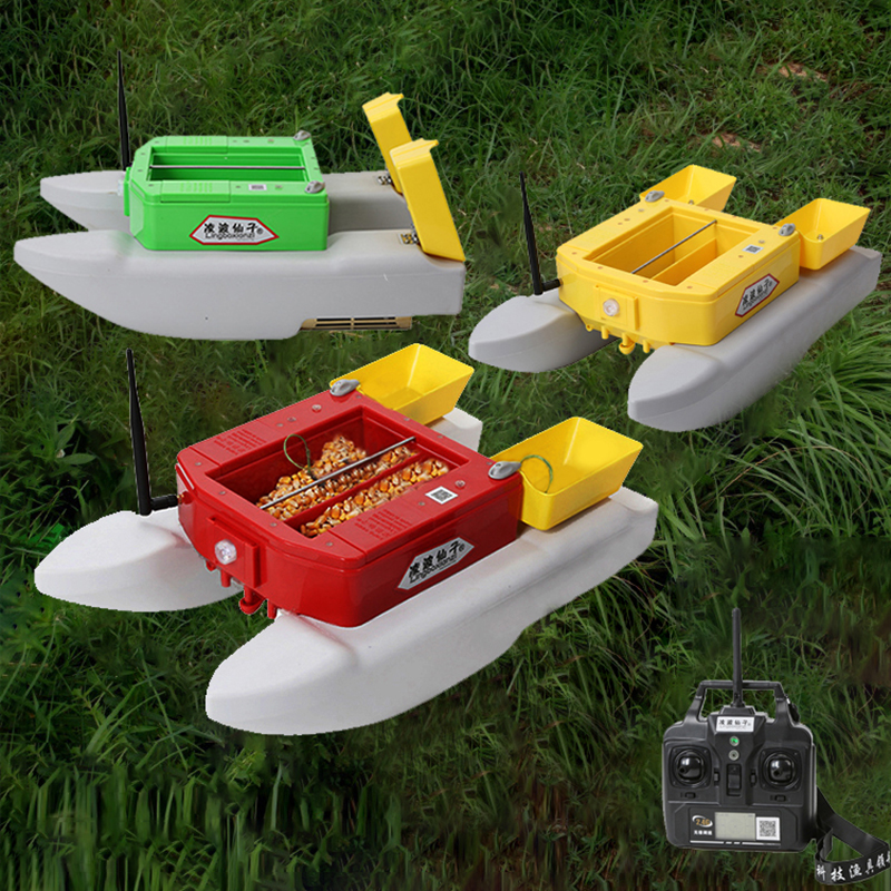 T1688 Fishing Rc Boat Fishing Lure Bait 3kg Double Warehouse 500m Wireless Remote Control Smart Rc Fish Finder Boat
