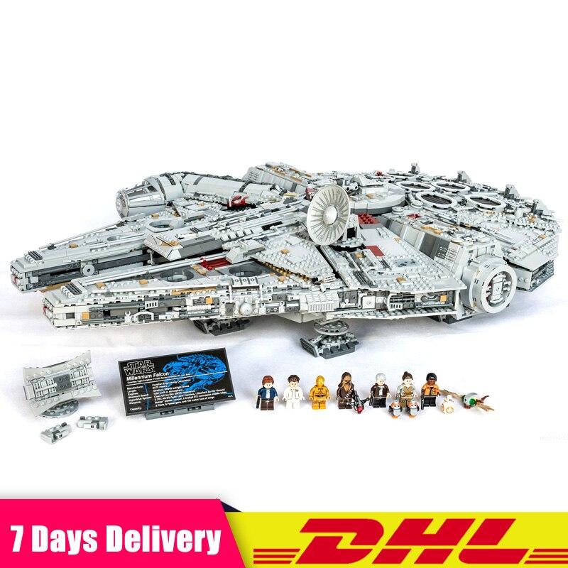 Clon LEGOINGLY 75192 LEPIN 05132 Star unids 8445 PCs Wars The UCS Big Millennium Falcon Set bloques de construcción juego de Juguetes DIY