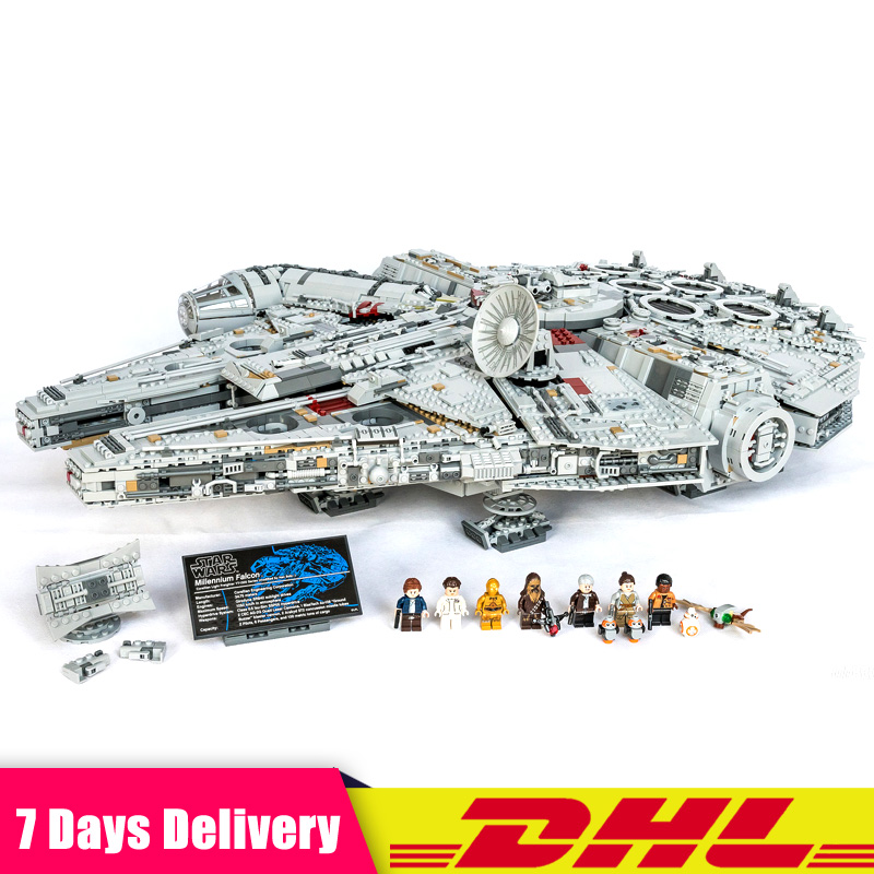 Clone LEGOINGLY 75192 LEPIN 05132 Étoiles 8445 pcs Wars La NGC Grand Millennium Falcon Ensemble Blocs de Construction Briques Ensemble DIY jouets