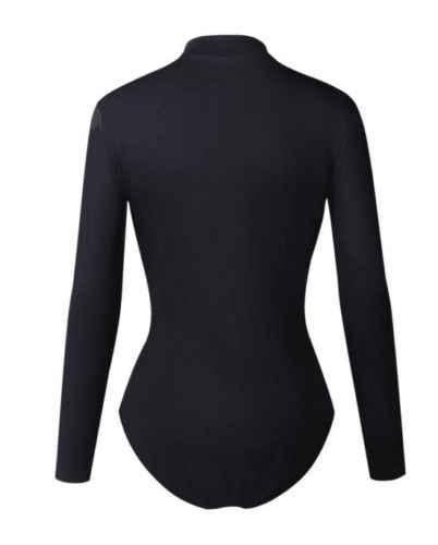 Новинка 2018, четыре размера, Женский Длинный Черный боди, трико, топы, облегающий бандажный комбинезон, комбинезон, блузка
