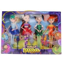 (Jimusuhutu) 4pcs/lot New Style Fairy Patrol High Doll MAWA BAPR Joint Body Fashion Dolls Toys Girls Best Gift Monster Fun