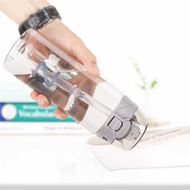 JOUDOO, твердая Спортивная пластиковая бутылка для воды, креативная тритановая бутылка воды, портативная бутылка для воды, чая, посуда для напитков на открытом воздухе, чашка с соломинкой, 35