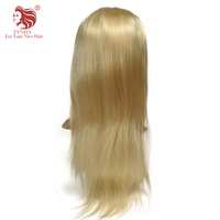 FYNHA #613 Blonde Wigs 130% Density Silky Straight Brazilian Remy Human Hair Full Lace Wig For Women With Baby Hair