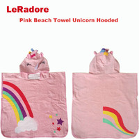 Quick Dry Unicorn Beach Towel Hooded For Girl 120cm Prime Microfiber Soft Blanket Throw Unicorn Terry Towel For Bath Travel