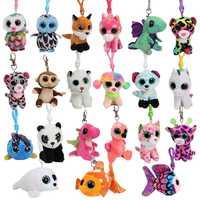 Free Shipping EMS 50 Pcs Lots Ty Beanie Boos Plush Toys Birthday Owl Panda Unicorn Fox