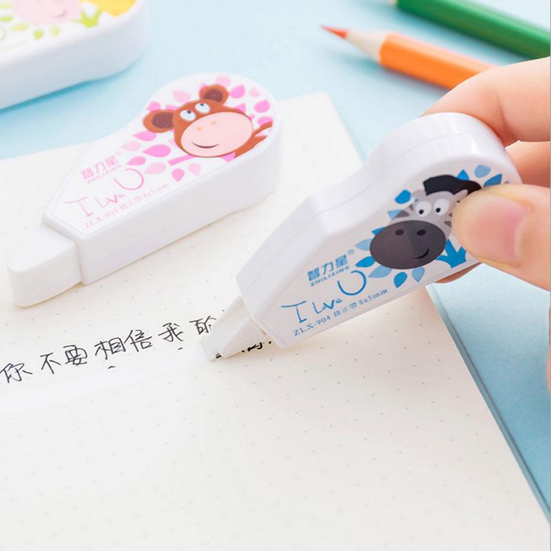 Купить с кэшбэком 1 x Creative cartoon Animal Correction tape Kawaii school supplies office supplies shuttle fish students stationery