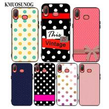 For Samsung A6S A8S A6 A7 A8 A9 A5 A3 Star Plus 2018 2017 2016 Black Silicon Phone Case Polka Dots Style