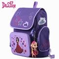 Delune 2016 nuevo personaje chica mochila para la escuela de alta calidad bolsas de mochilas escolares para las niñas niños trolley escuela de protección espina