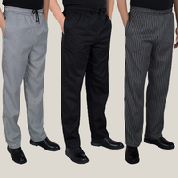 Autumn And Winter High Quality Chef Pants Shop Work Striped Pants Restaurant Plaid Pants Casual Big