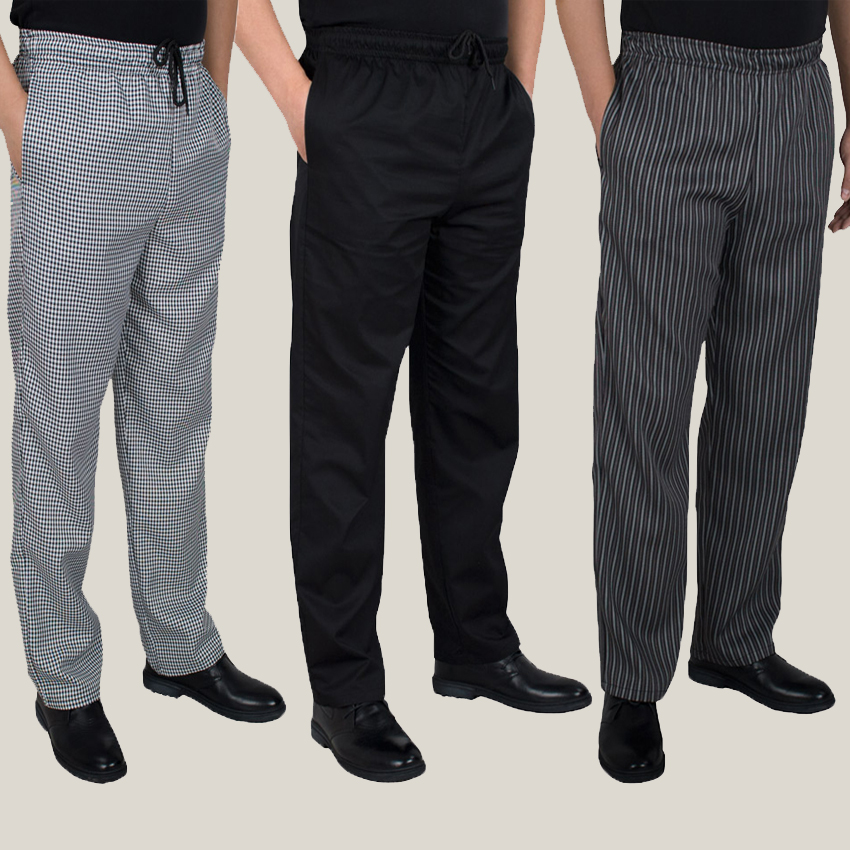 Autumn and winter food service Free Shipping autumn Cook pants work pants checked striped chef pants