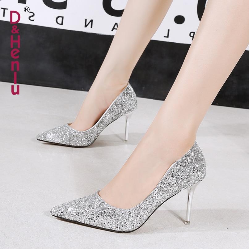 silver Color Fiesta Para Zapatos Black Lujo amp; Alto Heels Champán champagne Heel Tacones Mujer De Heels Henlu} Lentejuelas Heels {d Heels Oro Tacón Boda golden white x76wBqpz