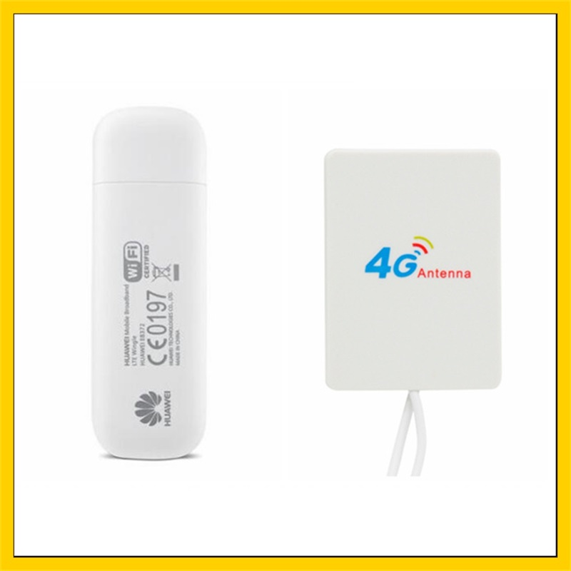 E8372  E8372h-153  150Mbps 4G LTE Wifi Modem + 4G Signal Amplifier Antenna With 2M Cable  Double TS9 Connector