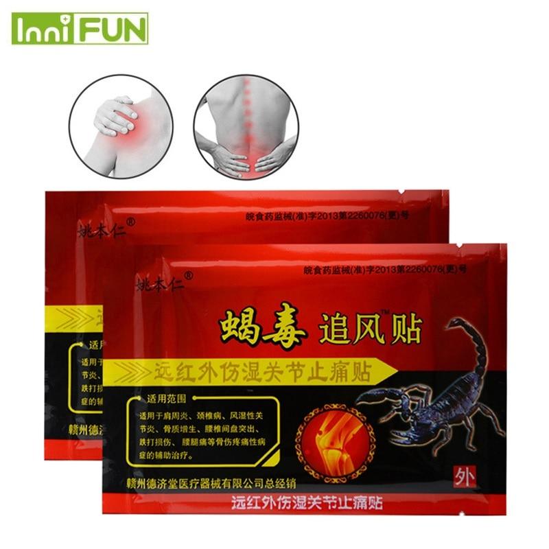 48Pcs / 6Boxes Sumifun Scorpion Venom Chinese Herbal Patches Tilbage - Sundhedspleje - Foto 1