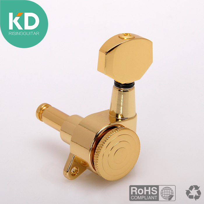 6 pcsString locking tuning key Acoustic Guitar tuning peg Electric Guitar machine head Locking tuning key  6R in line per set a set of 6 pcs gold sealed gear string tuning peg tuner machine head for acoustic electric guitar