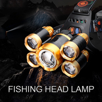 Fishing Head Lamp LED Headlamp 10000 Lumens Head Torch Head Flashlight 18650 Battery Outdoor Linterna Led Cabeza Lampe Frontale