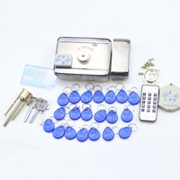 GZGMET Stainless Steel Electric Lock Entry Device Door Access Control System ID Card Open Door Intercom with 20 ID keys