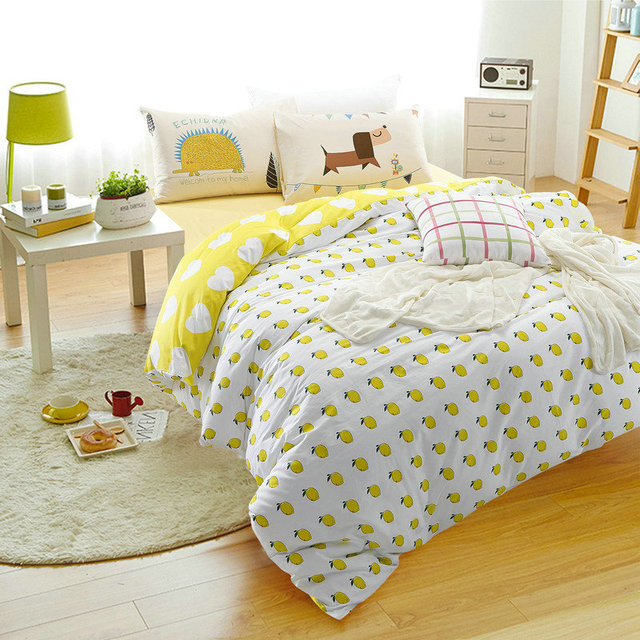 Perfect 100% Cotton Hedgehog And Dog Bedding Set 4Pcs Home Four Seasons Duvet Cover  Children Bed