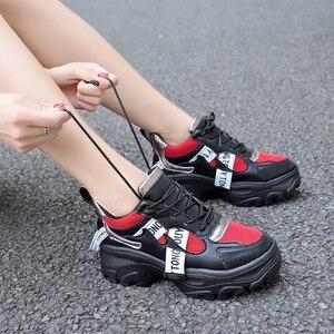 Image 5 - Lucyever 2019 Neue Frühjahr Frauen Casual Schuhe Weibliche Durable Plattform Lace Up pelz Schuhe Student Schule Schuhe Zapotos Mujer