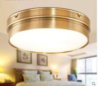 Латунь Винтаж светодиодный современный потолочный светильник домашнего освещения Гостиная блеск Заподлицо Потолочные светильники Светил