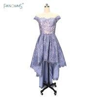 Sexy cocktail dresses Lace Sheer Back Blue Purple Prom dresses formal gowns vestido de festa curto ASCK03