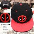 Новая версия дэдпул Косплей Hat Регулируемая Повседневная Спорт Snapback Мода Открытый Hat Мужчины Гольф Черный Красный фигурку Плюшевые