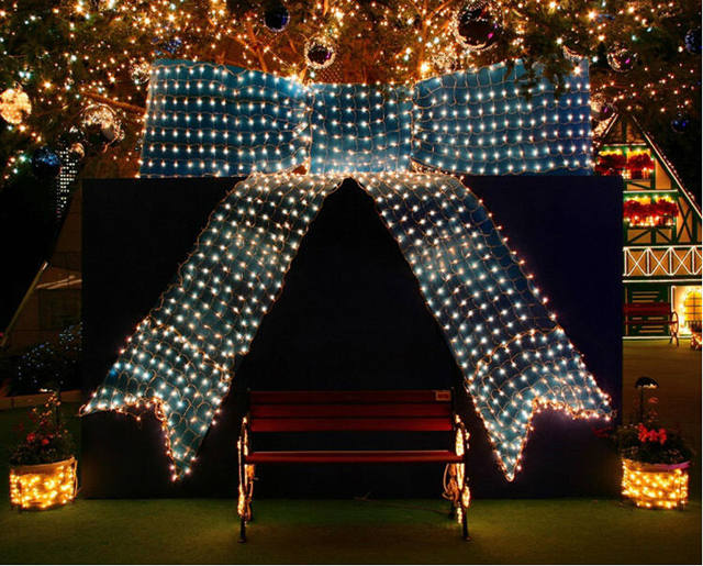 6*4m 750 LED Tree Mesh Ceiling House Wall Fairy String Net Light Twinkle  Lamp Garland For Festival Christmas Holiday Decoration