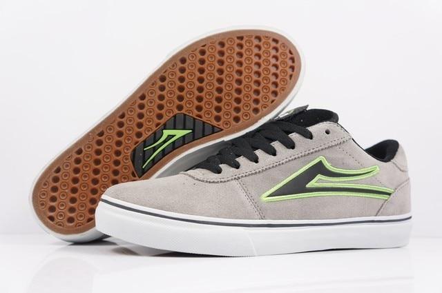 2016  BOY SPORT Shoes Light Grey Anti-Fur LAKAI MANCHESTER Hard-Wearing Street Men SPORT Footwear