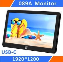 Portátil Monitor de Jogos 8.9 Polegada HDR 1920*1200 QHD IPS Display LCD Alimentado Por USB para Xbox, PS4, PS3, Raspberry Pi E Mini PC (089A)