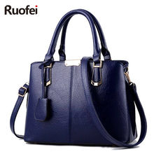 цены  Hot Sale 2017 New women Bag  Fashion Big Bag Women Shoulder Messenger Bag Ladies Handbag Big Shoulder Bags For Woman E26
