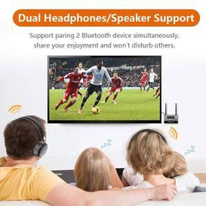 Image 5 - Bluetooth 5.0 nadajnik odbiornik daleki zasięg Audio Adapter do TV PC słuchawki, aptX HD, krótki czas oczekiwania, podwójny Link, optyczny RCA 3.5mm