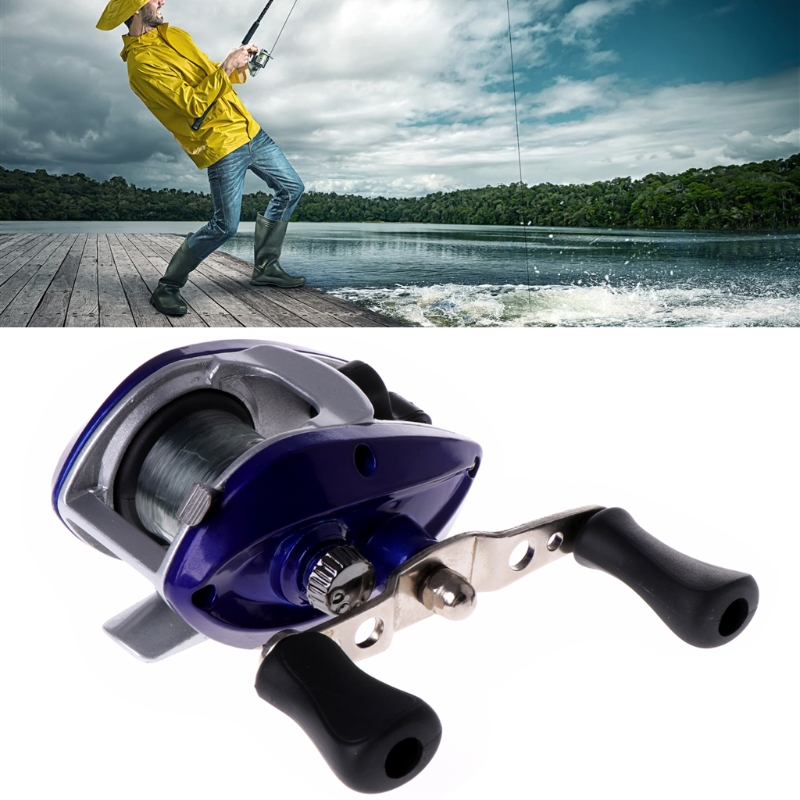 Fishing Right Baitcasting Reel 3.3:1 Bait Casting Beginners Equipment Tackle Kit