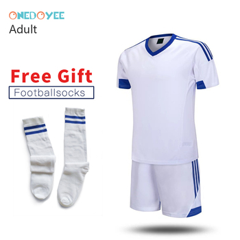 ONEDOYEE  17/18 Mens Soccer Jerseys Set Polyester Adults Football Training Suits Long Sleeve Soccer Uniform for Teens Sport Suit sexy sports bra and leggings