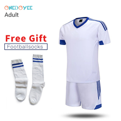 74fdb1d05 ONEDOYEE 17 18 Mens Soccer Jerseys Set Polyester Adults Football Training  Suits Long Sleeve Soccer Uniform for Teens Sport Suit