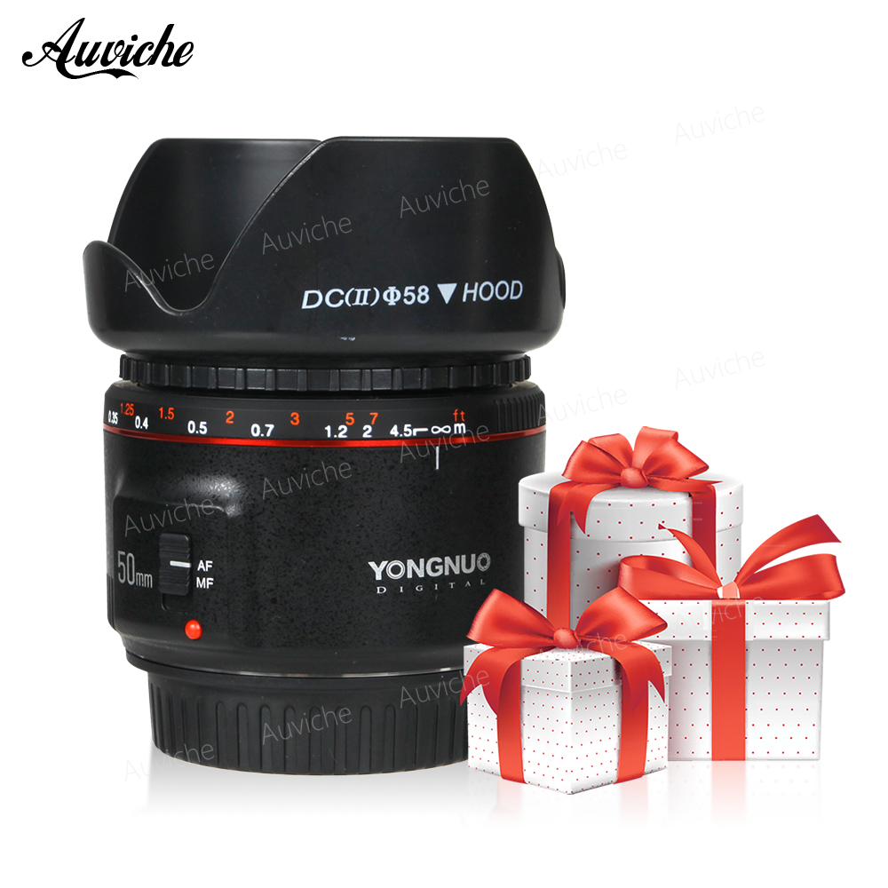 Yongnuo YN50MM F1.8 II AF/MF 0.35 m Distance Focale Standard Premier Objectif pour Canon EOS Monture EF pour canon 1300D 850D 800D 750D 700D